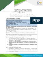 Guia de actividades y Rúbrica de evaluación - Fase 1 Identificar conceptos básicos de los indicadores ambientales