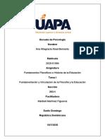 Fundamentos filosoficos e historia de la educacion tarea 1