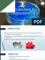 Solubilidad y cristalizacion