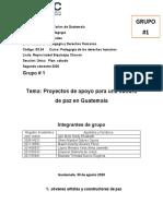 Grupo # 1 Proyectos de cultura de paz