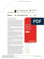 Essay - An Introduction _ The Yellow Site _ Fandom