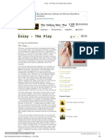 Essay - The Play _ The Yellow Site _ Fandom