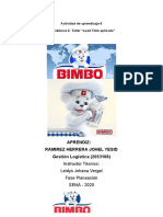Actividad de aprendizaje 8 BIMBO