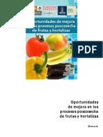 Oportunidades de mejora en los procesos poscosecha de frutas y hortalizas