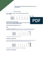 ANOVA sample assignment