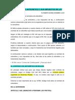 CONTRATO DE ANTICRETICO Y SUS IMPUESTOS DE LEY