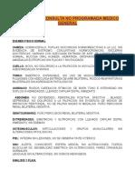 PLANTILLAS CONSULTA NO PROGRAMADA MEDICO GENERAL sanitas