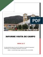 Informe de visita de campo la ye