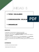 2016 Unidad 05 Organización celular