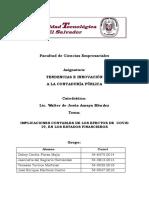 EXPOSICIÓN SOBRE IMPLICACIONES CONTABLES DE LOS EFECTOS DE COVID 19