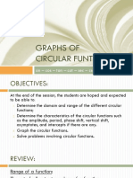 Graphs of circular functions