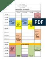Schedule BSED Science 1st Sem