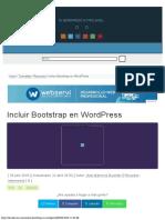 Incluir Bootstrap en WordPress - DecodeCMS