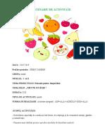 SCENARIU DE ACTIVITATE Fructe  gradi de vara