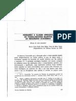 PAOLI SADER e TELLES_1984_Classe operária imaginário acadêmico