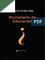 Diccionario de educacion - Ander-Egg, Ezequiel;