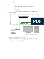 Web setting of JE106 Ethernet converter