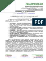 AVIS DE RECRUTEMENT ANIMATEUR ENDOGENE DANS LES COMMUNAUTES