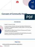 1. Concepts of Community Health
