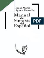 Teresa María Rodríguez Ramalle - Manual de Sintaxis Del Español (2005)