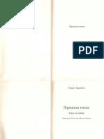 Agamben Giorgio Signatura rerum