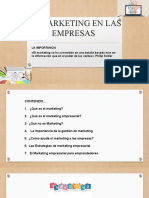 EL MARKETING EN LAS EMPRESAS