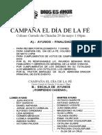 CAMPAÑA EL DIA DE LA FE