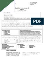english 12 university level course plan