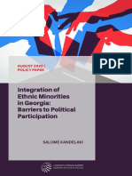 Integration of Ethnic Minorities in Georgia