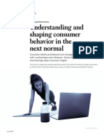 Understanding and Shaping Consumer Behavior in the Next Normal
