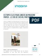 8 étapes clés pour lancer un magazine _ Inaativ