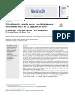 Hidrodilatación capsular versus cinesiterapia