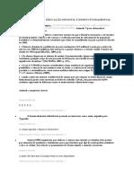 QUESTIONÁRIO II ( educação  infantil