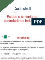 Controle II. Estudo e sintonia de controladores industriais