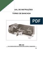 Manual de Instrucoes Torno de Bancada MR330