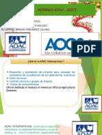 normas AOAC, AOCS.