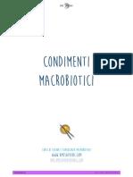 Microbiotic condiments