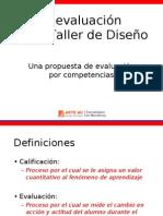 evaluacion taller de diseño