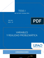 TESIS I - SEMANA 3 - VARIABLES Y R.P.
