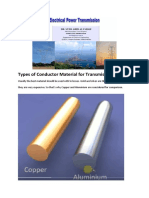 Type of Conductor Material for Transmission line