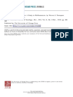 Reviewed Work - Population A Study in Malthusianism_Warren S. Thompson
