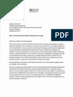 Lettre Au CISSSO - Communications Avec Le Public Aout 2020