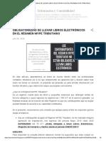 Obligatoriedad de Llevar Libros Electrónicos en El Régimen Mype Tributario