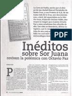 Articulo Sobre Soriano y Ms Palafoxiana Inèditos Sobre Sor Juana