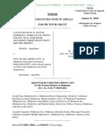 McGraw v. Oklahoma City (1st Amendment case)