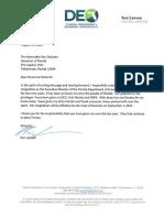 Ken Lawson resignation letter DEO
