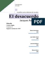RANCIÈRE - El desacuerdo - Capítulos 1 y 2