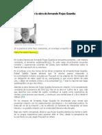Reflexiones sobre la obra de Armando Rojas Guardia por Ramón Escovar León