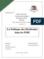 LA politique de dividende