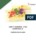 CUADERNO DE LECTOESCRITURA LEER Y ESCRIBIR ES DIVERTIDO
